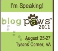 Guest speaker at BlogPaws 2011 Virginia